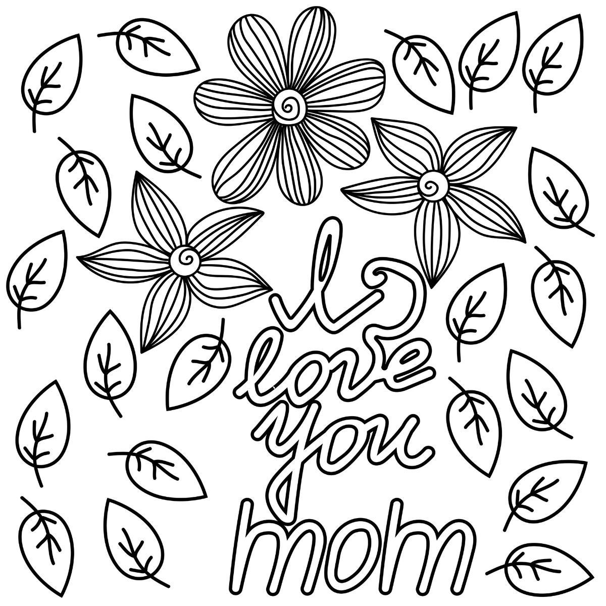 Kolorowanka na Dzień Matki - kwiaty