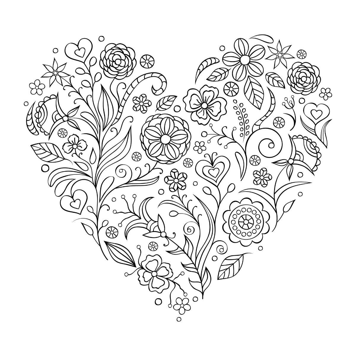 Kolorowanka serce dla mamy