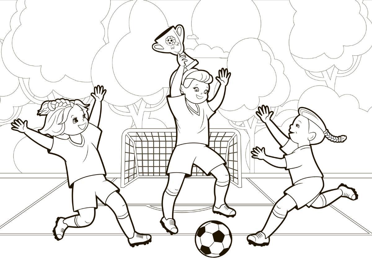 Kolorowanka piłka nożna dziewczynki