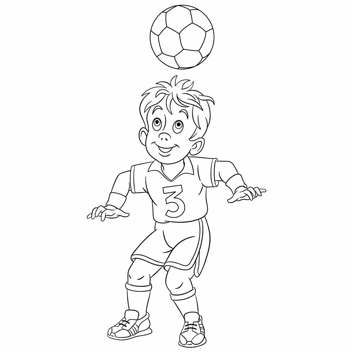 Kolorowanka piłkarz do druku