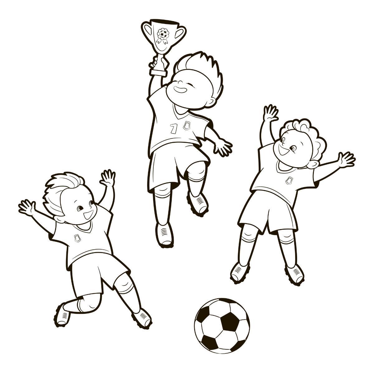 Kolorowanka piłkarze