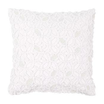 Piękna wzorzysta poduszka w kolorze bieli -trendy wnętrzarskie 2013