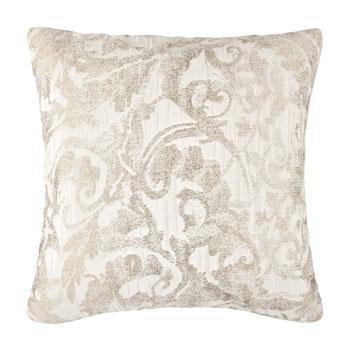 Dekoracyjna wzorzysta poduszka w kolorze ecru  -modny dom 2013