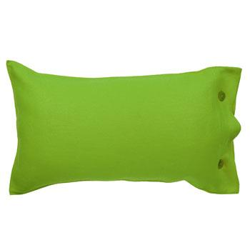 Piękna podłużna poduszka w kolorze zieleni  -trendy wnętrzarskie 2013