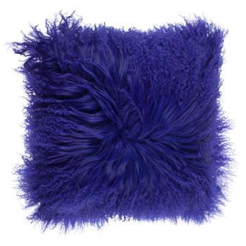 Wygodna poduszka w kolorze granatowym z pluszem -modny dom 2013