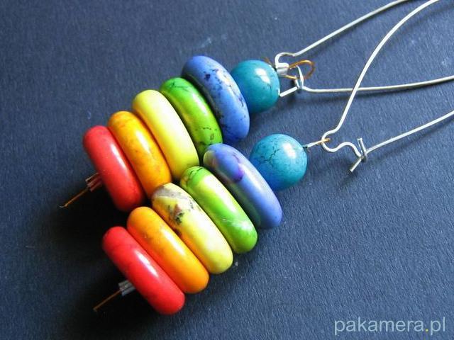 Kolorowe kolczyki - galeria