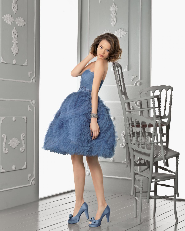 b758565194 niebieska suknia Aire Barcelona krótka - Kolorowe suknie ślubne Aire ...