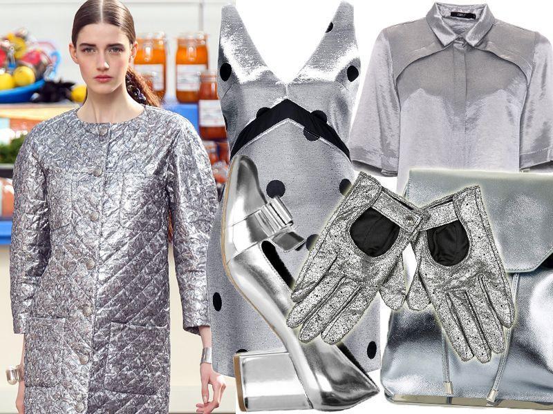 Srebrne ubrania, srebrne dodatki jesień 2014