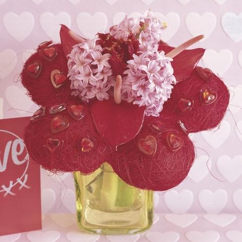 Kompozycje kwiatowe z hiacyntów - zdjęcie
