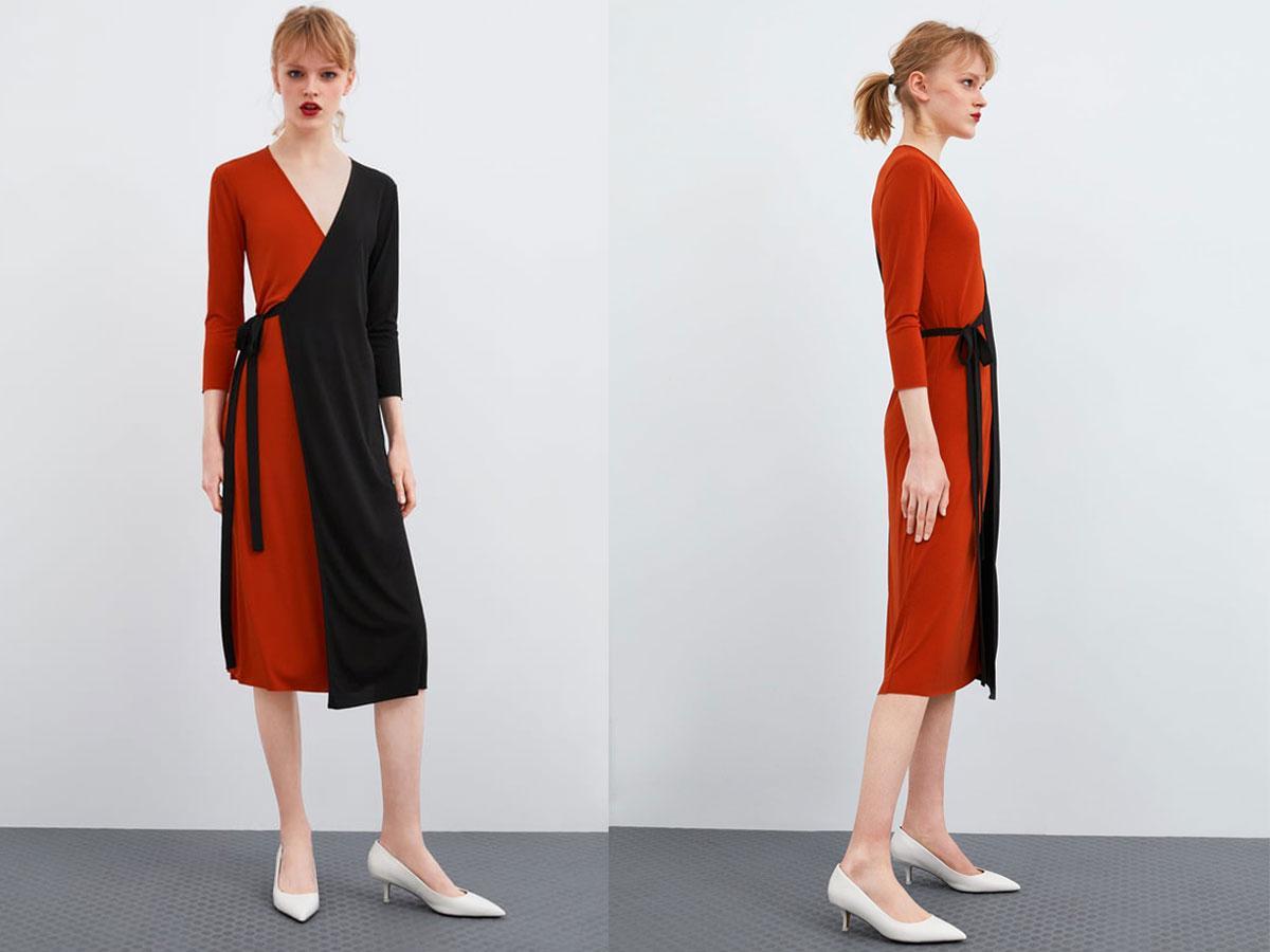 Kopertowa sukienka Zara