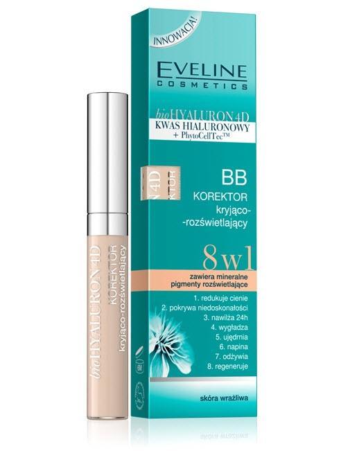 BB korektor kryjąco-rozświetlający 8w1 - Eveline cosmetics