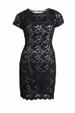 czarna sukienka Averly London z koronką