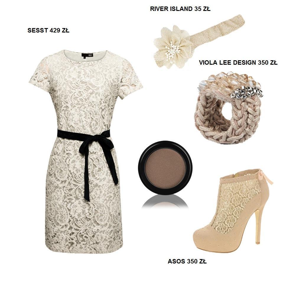 Stylizacje z koronkową sukienką Sesst