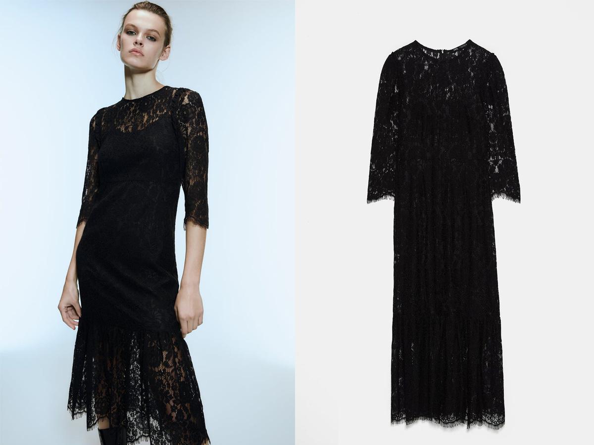 koronkowa sukienka Zara