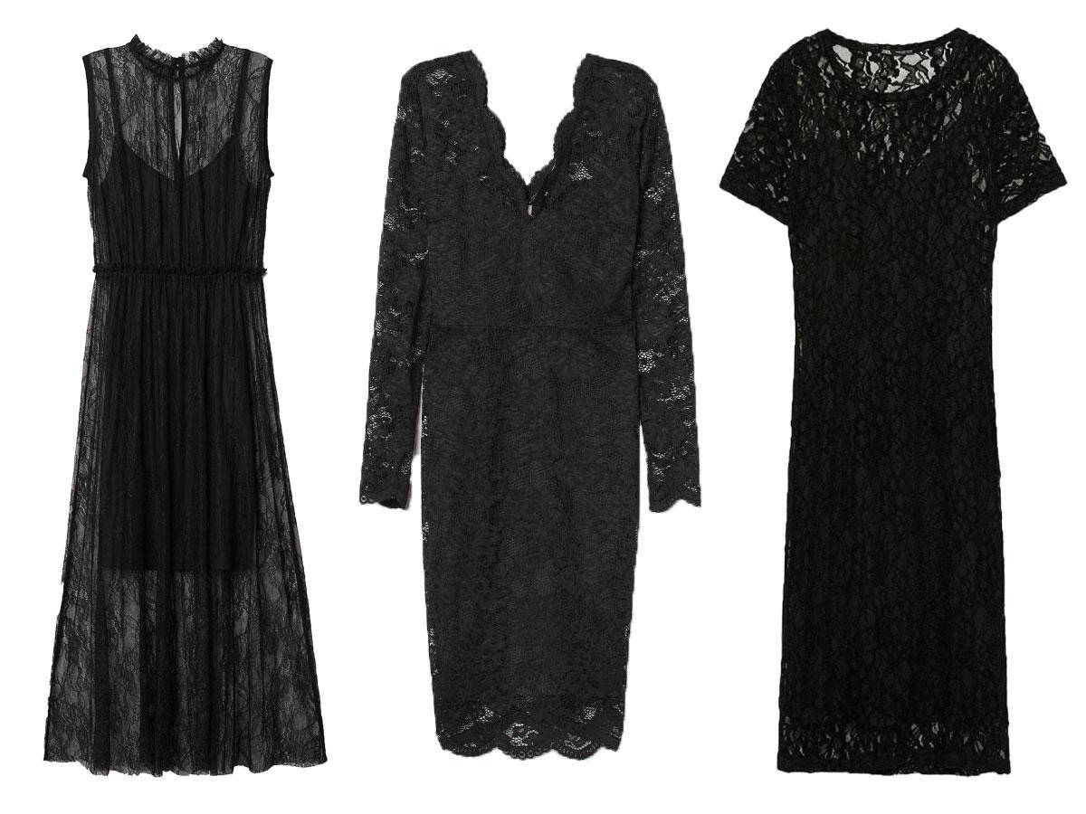 Czarne sukienki koronkowe z sieciówek