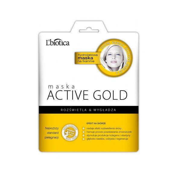 Maska hydrożelowa na tkaninie ACTIV GOLD L'biotica, cena 19 zł