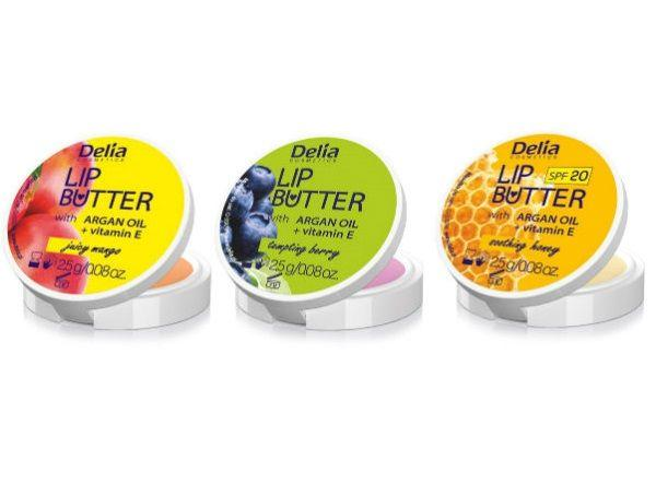 Masło do ust z olejem arganowym, DeliaCosmetics, cena: ok. 6 zł