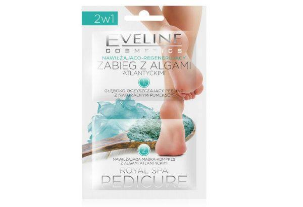 ROYAL SPA PEDICURE - nawilżająco-regenerującyzabieg z algami atlantyckimi, Eveline Cosmetics, cena: ok. 3,50 zł.
