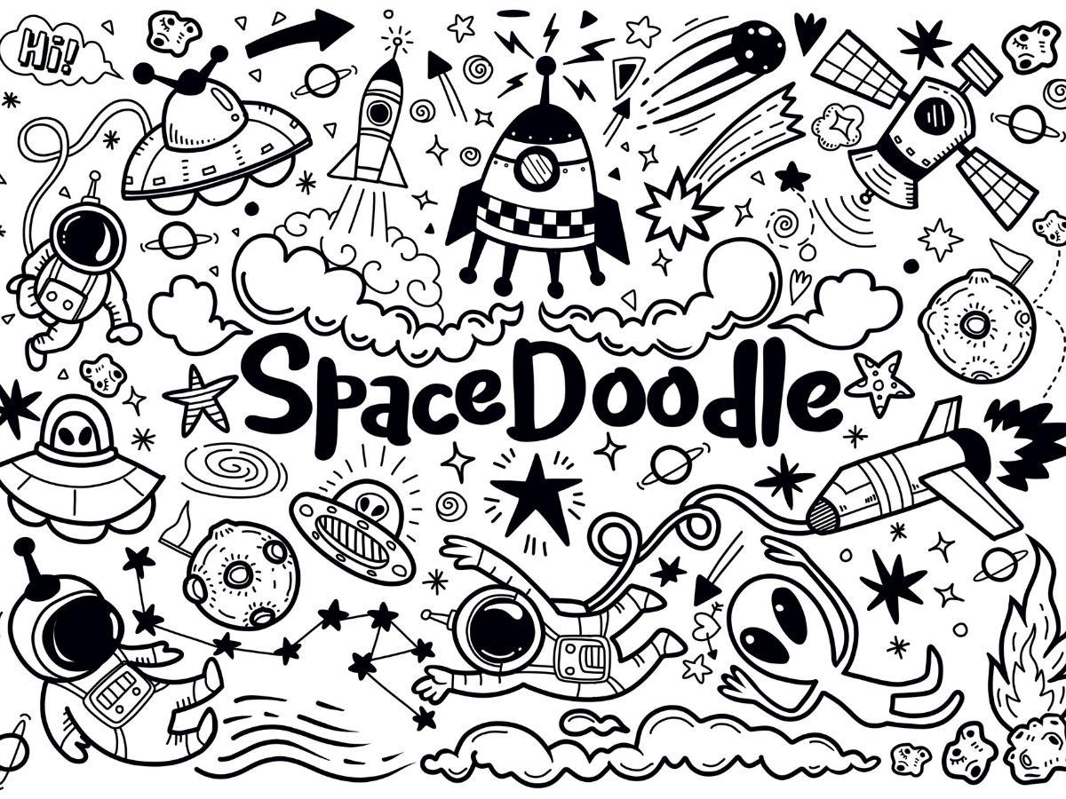 Kolorowanka rakiety kosmiczne