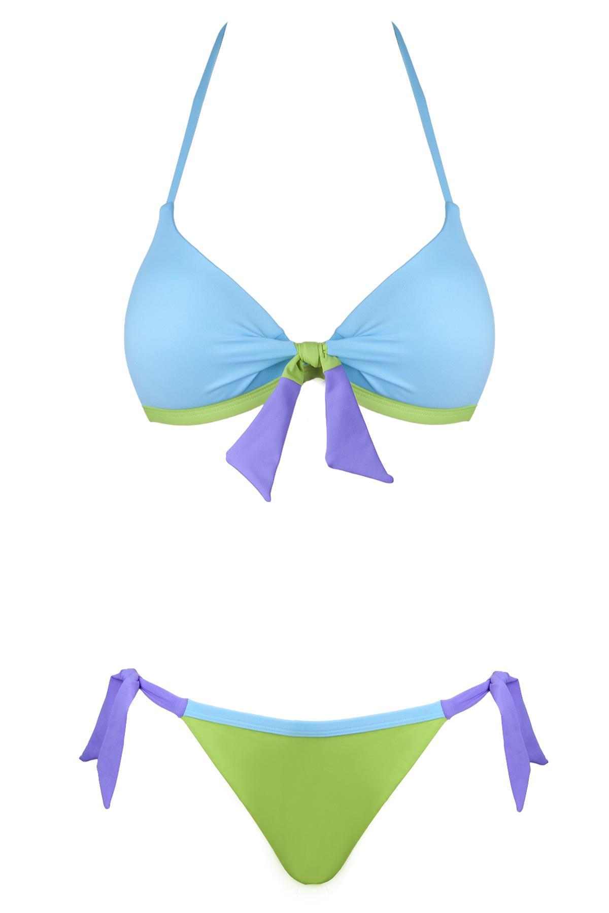 błękitne bikini Lupoline - moda plażowa