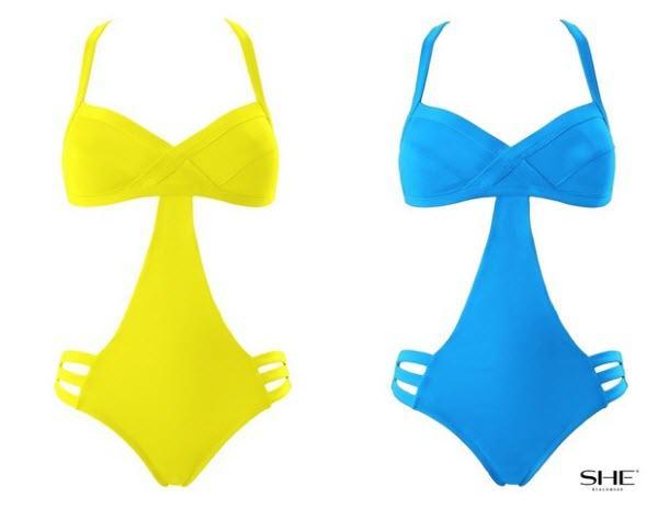 Kostiumy kąpielowe w żywych kolorach - przegląd