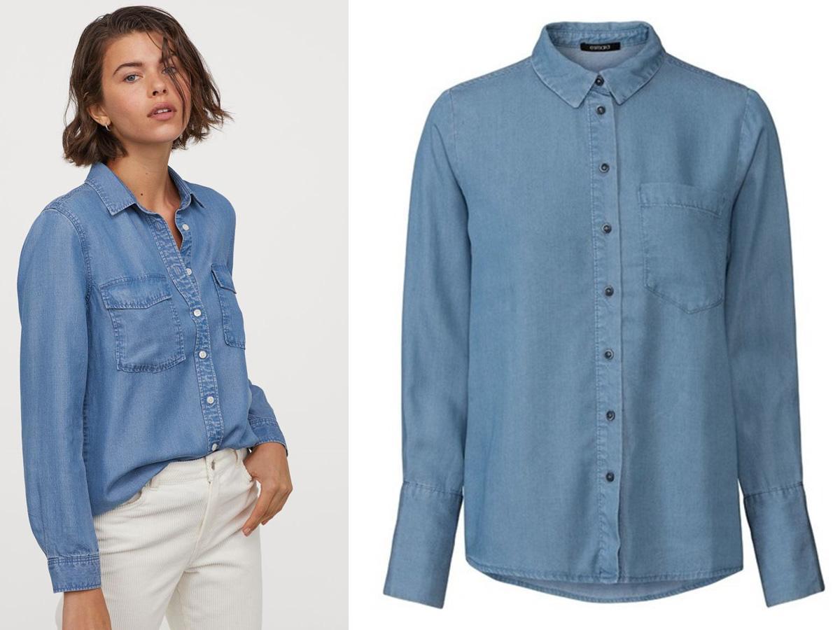 koszula jeansowa H&M kontra Pepco