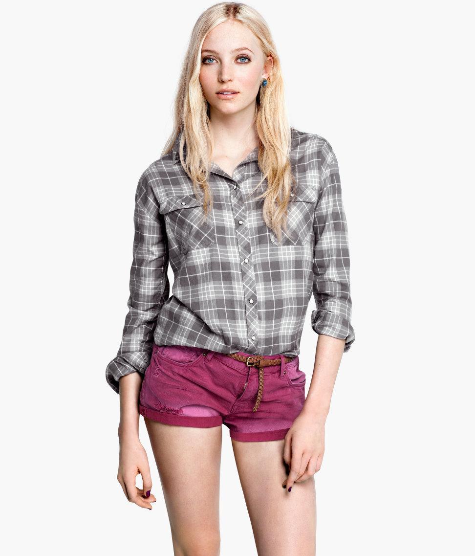 modna koszula H&M w kratkę - trendy na lato