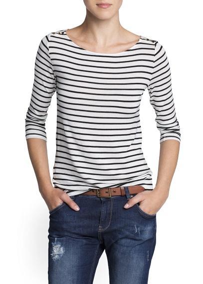 bluzeczka Mango w paski - moda na jesień