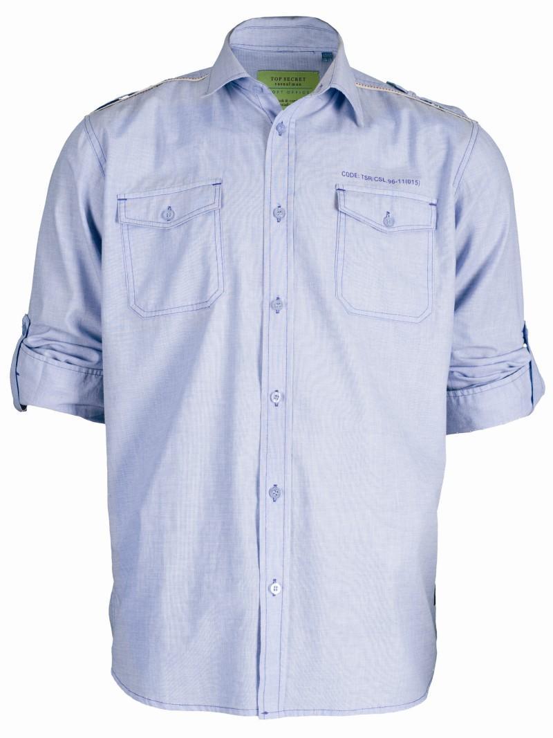 błękitna koszula Top Secret - moda wiosna/lato