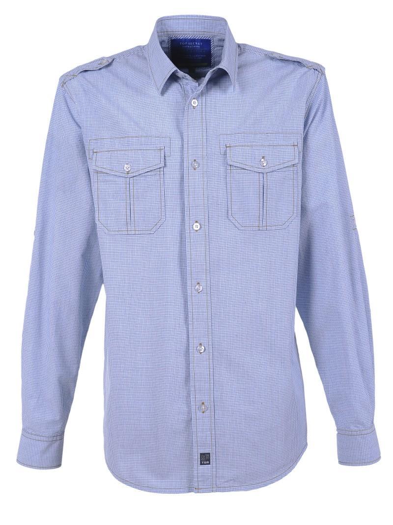 błękitna koszula Top Secret - letnia kolekcja