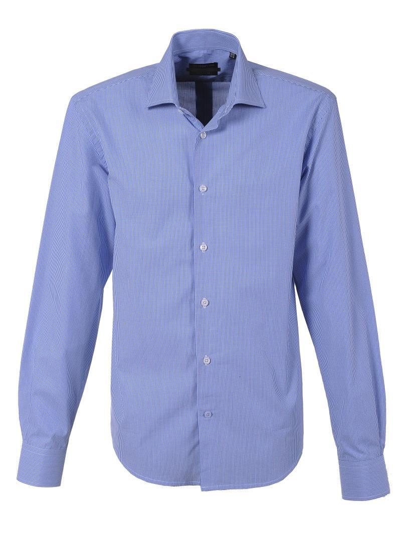 niebieska koszula Top Secret w kratkę - moda wiosna/lato