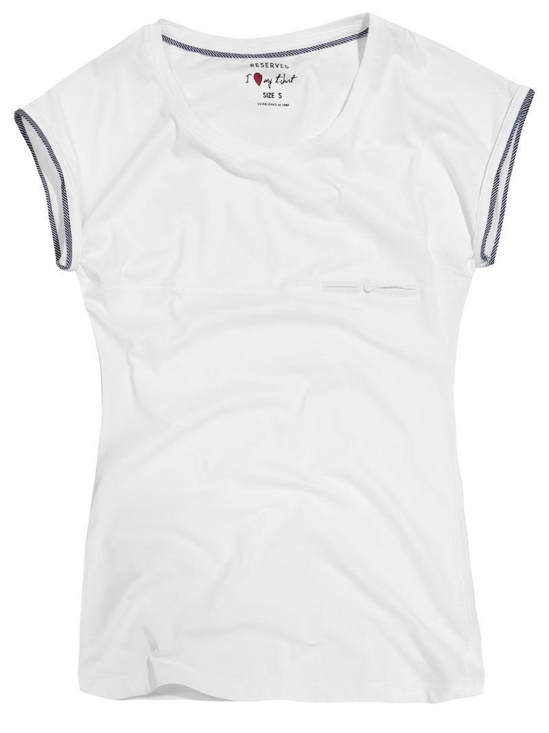 biały t-shirt Reserved - kolekcja wiosenno/letnia