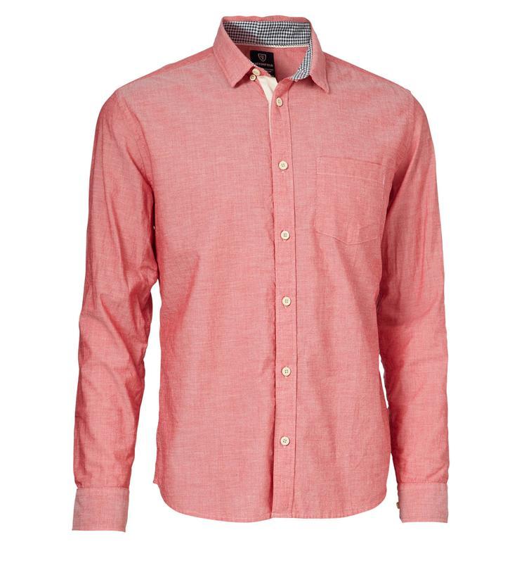 Dodatkowe łososiowa koszula Cottonfield - wiosna/lato 2012 - Koszule męskie OU67
