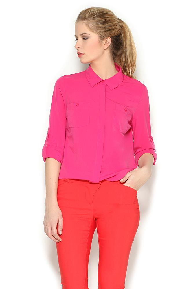 zwiewna koszula Orsay w kolorze różowym - lato 2013