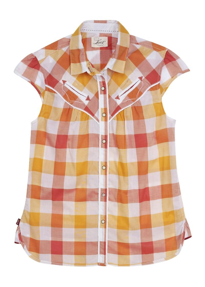 pomarańczowa koszula Levis w kratkę - kolekcja wiosenno/letnia