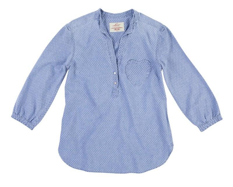 niebieska koszula Levis w kropki - wiosna-lato 2011