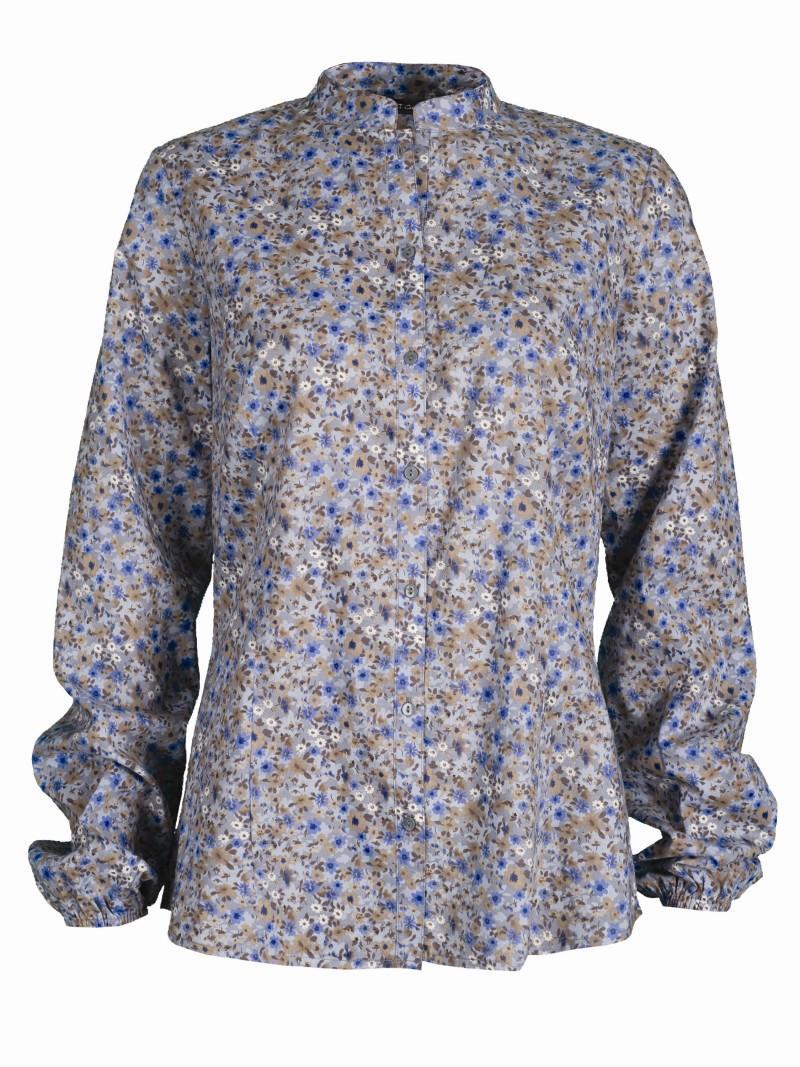 niebieska koszula Top Secret w kwiaty - kolekcja wiosenno/letnia