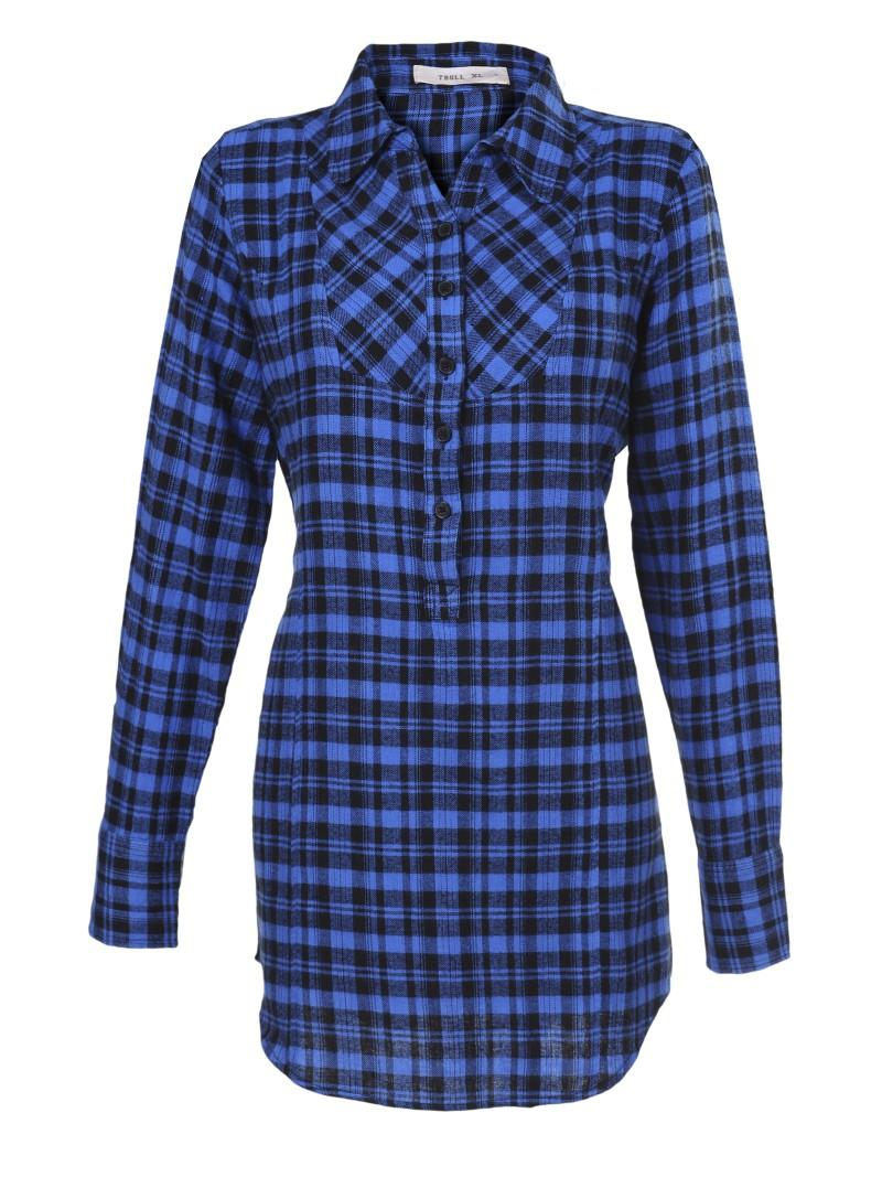 niebieska koszula Troll w kratkę - kolekcja wiosenno/letnia