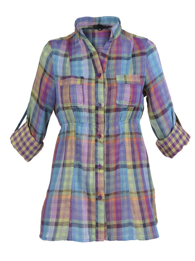 kolorowa koszula Troll w kratkę - moda 2011