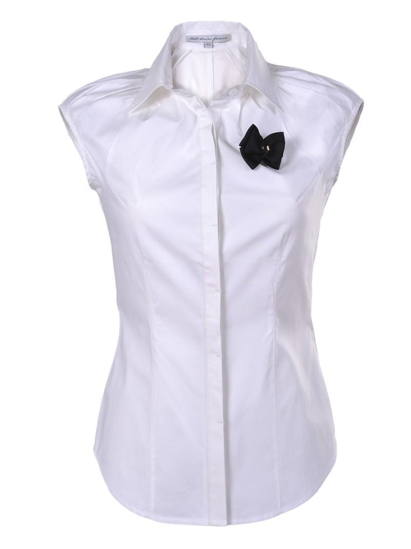 biała koszula Troll z kokardą - lato 2011