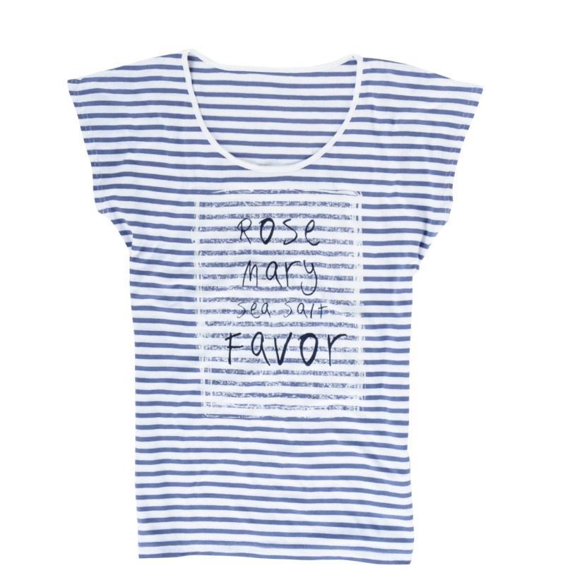 niebieska koszulka Top Secret z aplikacją - kolekcja wiosenno/letnia