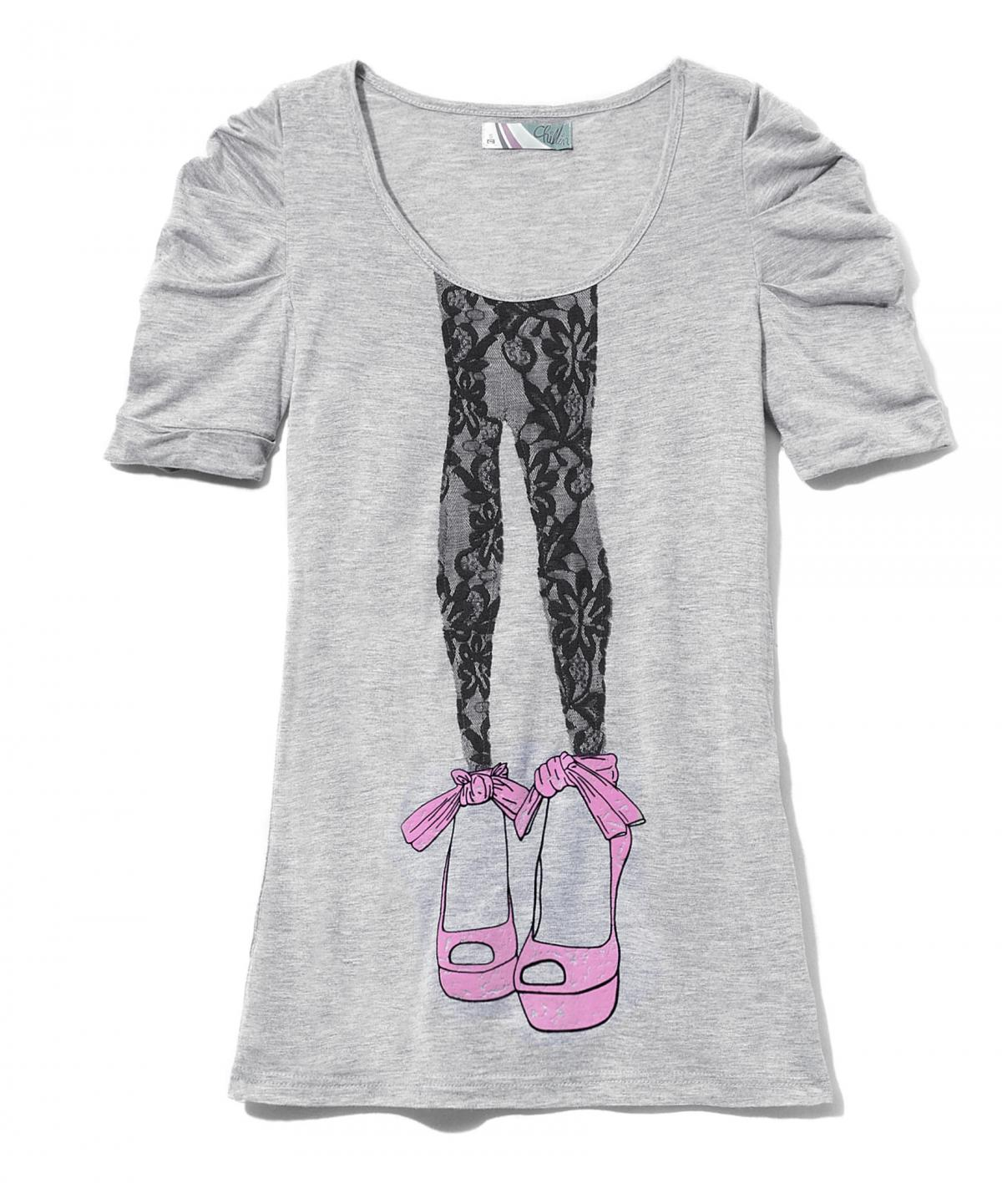 szara koszulka Cropp z aplikacją - z kolekcji wiosna-lato 2011