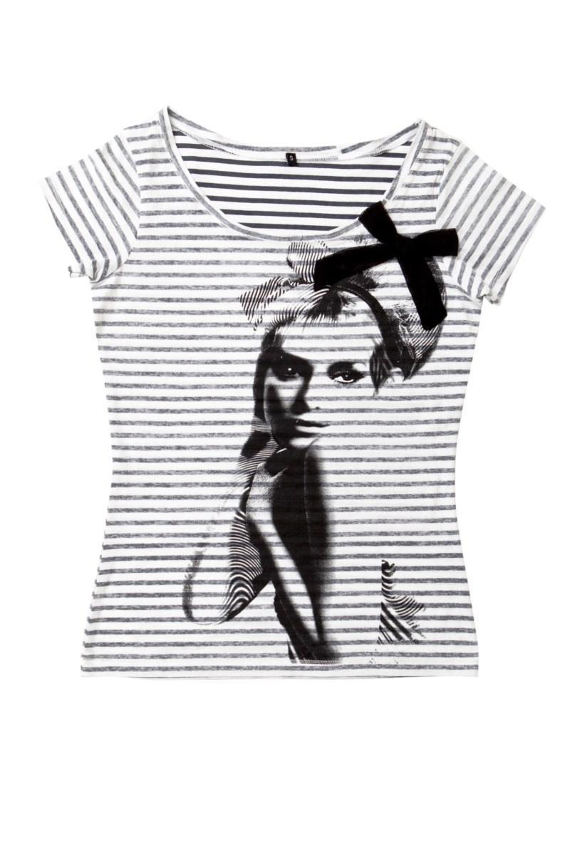 biała koszulka Mohito z aplikacją - kolekcja na lato
