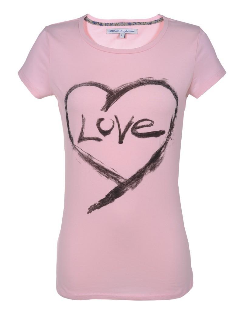 różowa koszulka Troll z aplikacją - kolekcja na lato