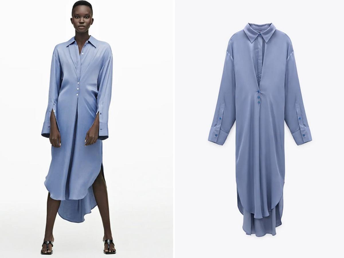 Koszulowa sukienka Zara
