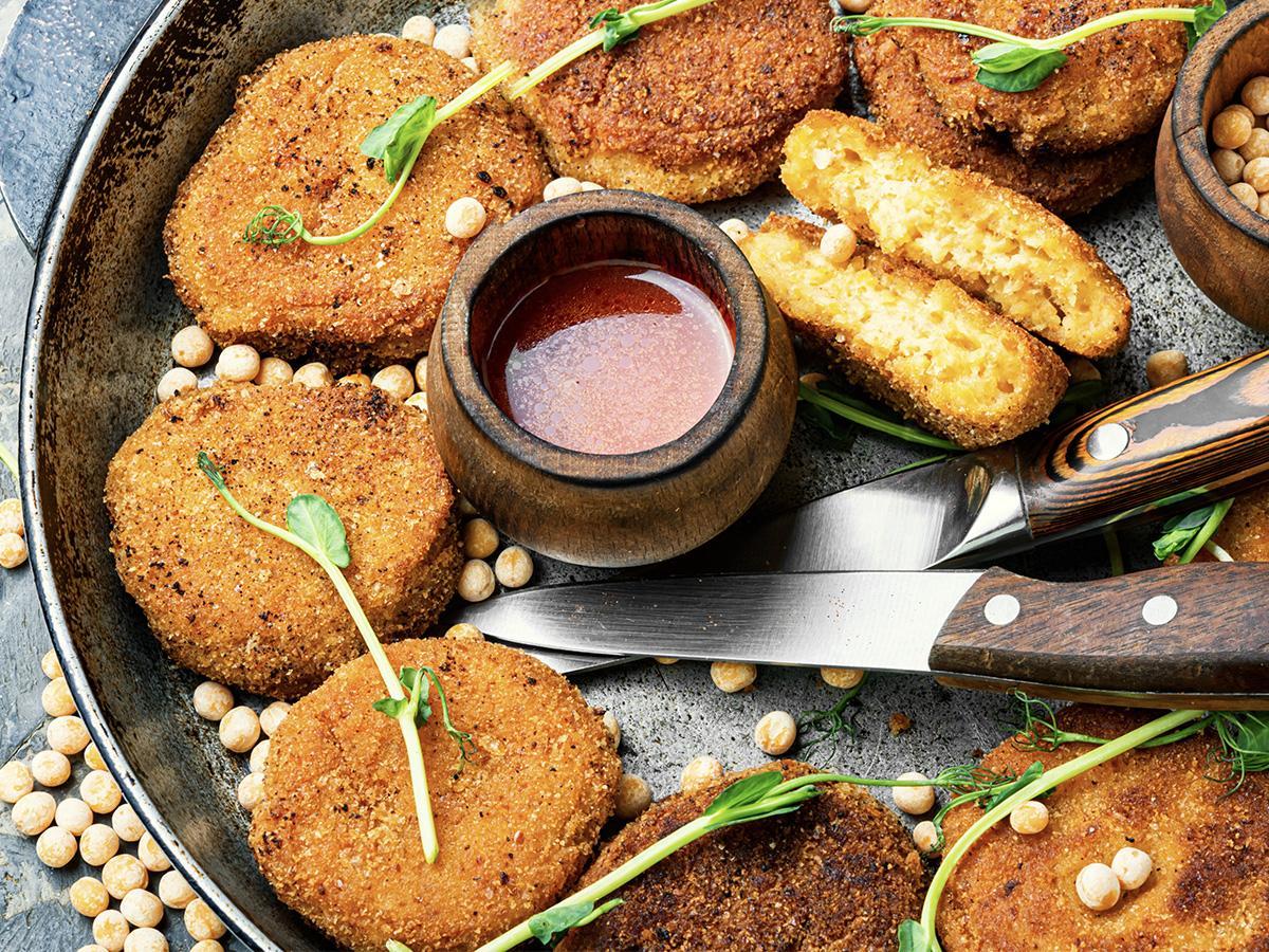 kotlety wegetariańskie z cieciorki