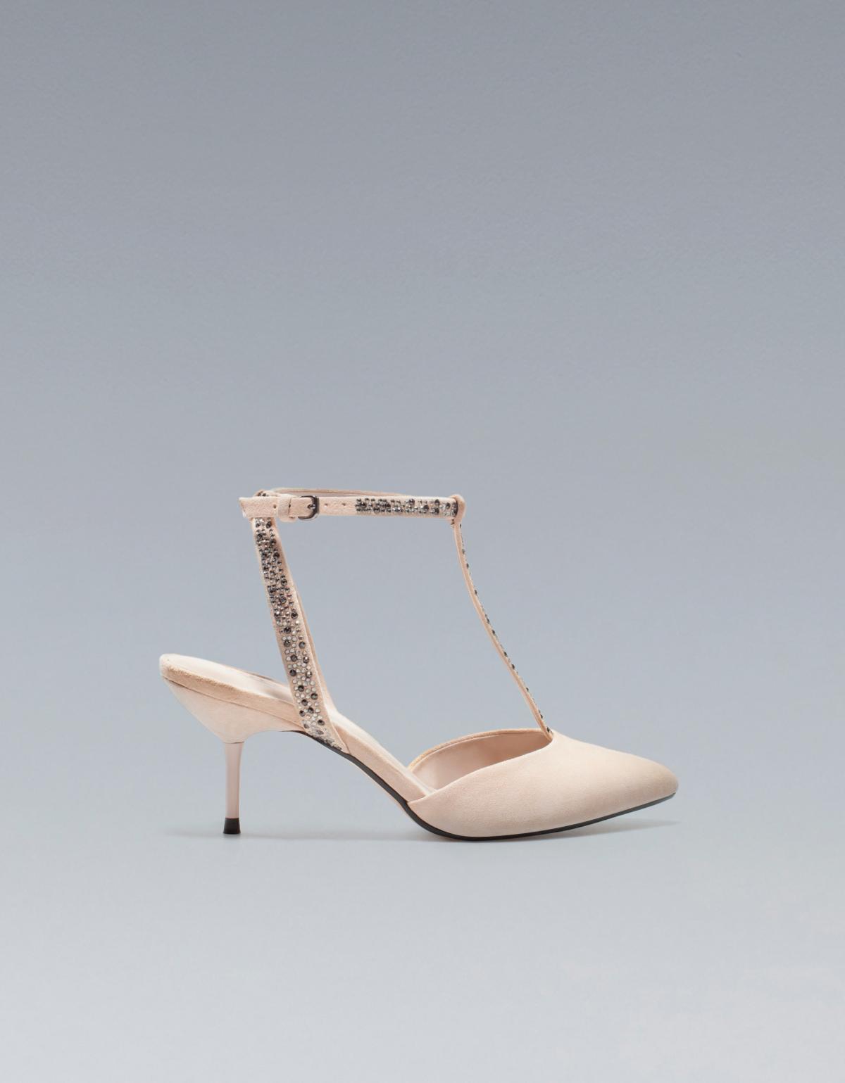 buty ślubne ZARA z paskiem