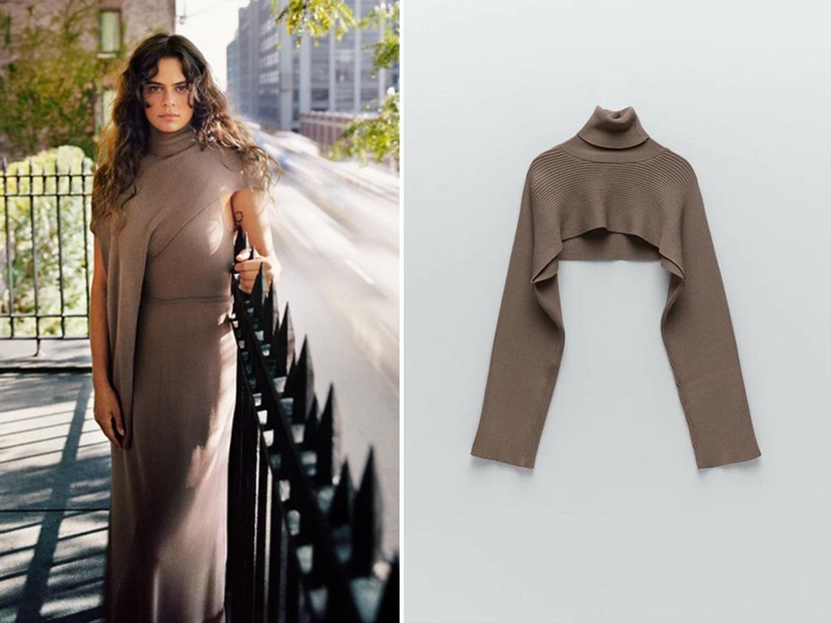 sweter arm warmers Zara