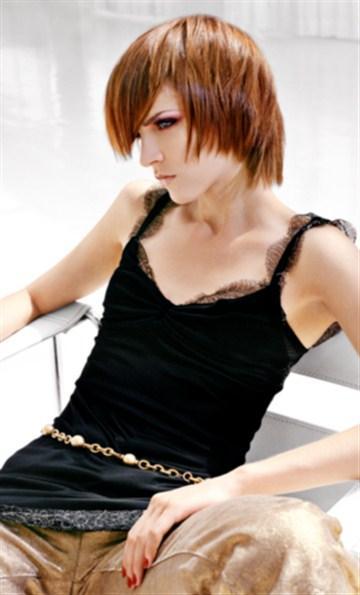krótkie rude włosy