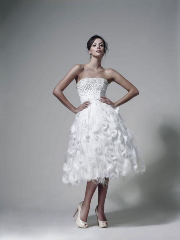 suknia ślubna Zień z cekinami drapowana